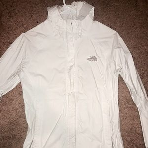 Women's White North Face Rain Jacket